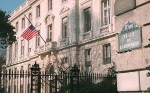 L'ambassade des Etats Unis à Paris, lieu de l'interview pour le visa E2